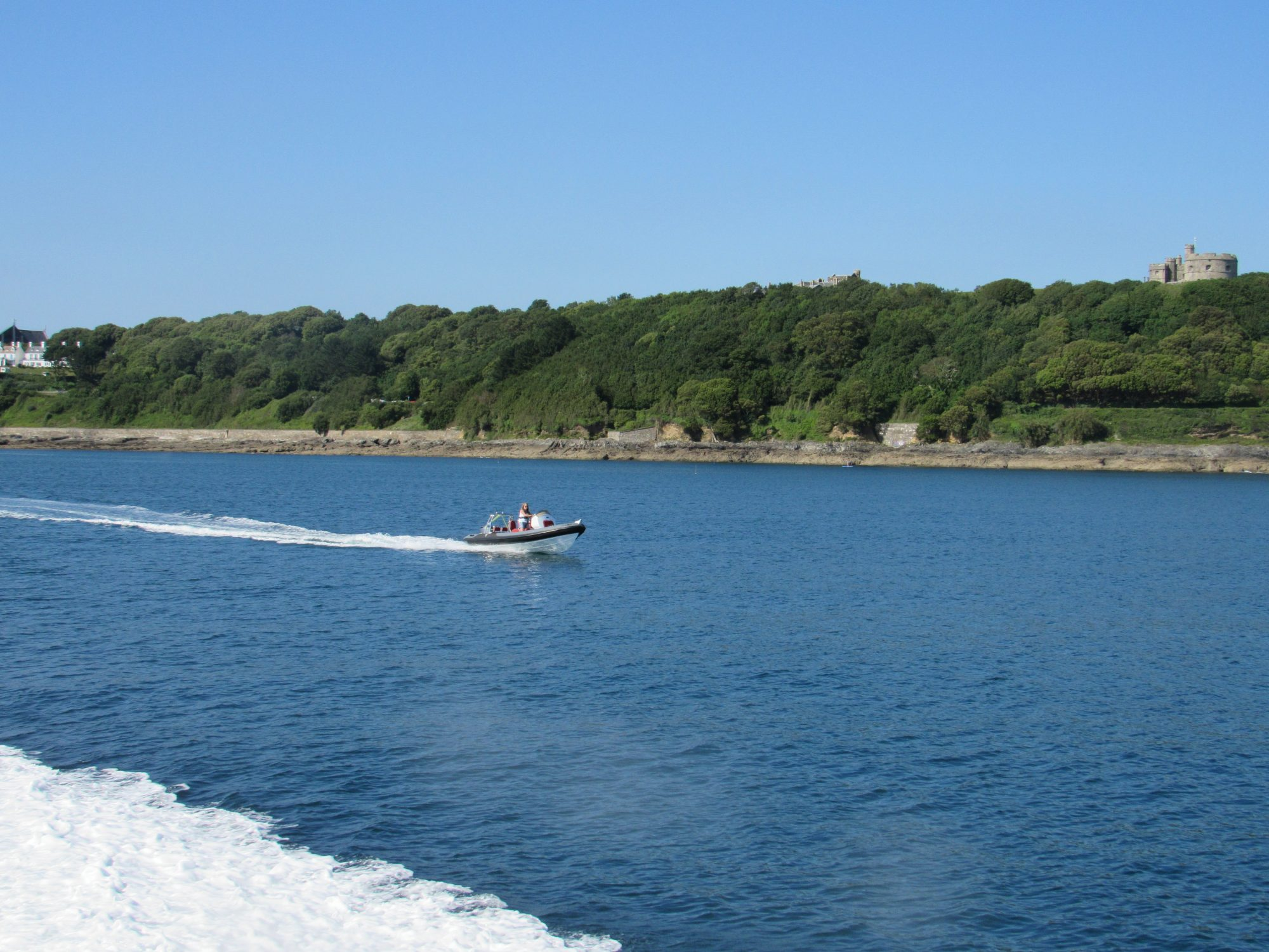Falmouth Rib Charters on the water